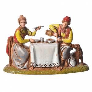 Scene with 4 nativity figurines, 6cm Moranduzzo s5