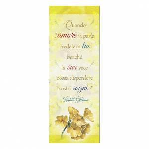 Segnalibro: Segnalibro carta perlata Ramo Fiorito Frase Kahlil Gibran 15x5 cm