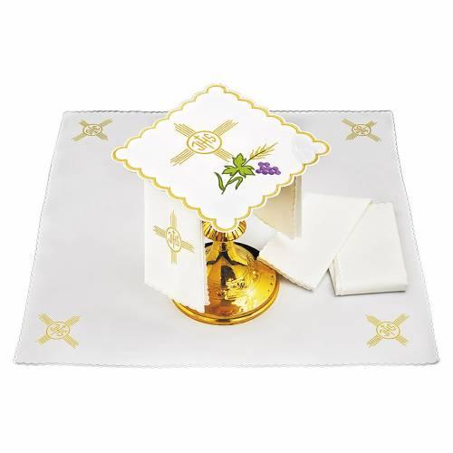 Service linge autel coton épi raisin feuille symbole IHS s1