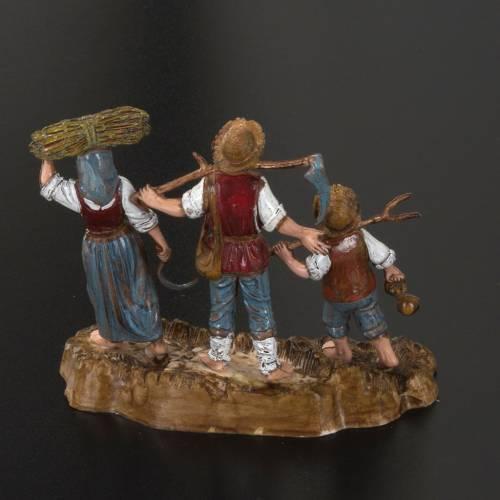 Setting for Moranduzzo nativities, 3 shepherds 10cm s3