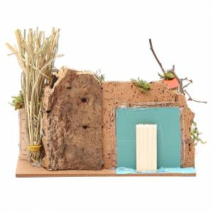 Setting for nativities with mirror measuring 15x20x14cm, assorted models s4