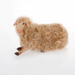 Sheep seated 14 cm for nativity set s2