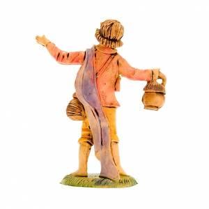 Nativity figurine, shepherd with lantern 8cm s2