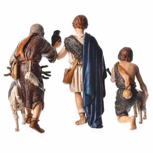 Shepherds, 6 nativity figurine, 13cm Moranduzzo s5