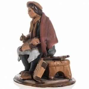 Terracotta Nativity Scene figurines from Deruta: Shoe repairer Christmas crib terracotta 18 cm