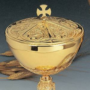 Silver Chalice and ciborium with passion images s2