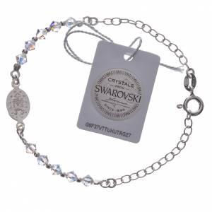 Single decade Bracelet silver 800 Medal and white Swarovski 4mm s2