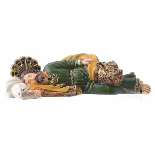 Sleeping Saint Joseph statue 12cm GIFT BOX Multilingual prayer s1