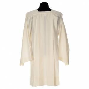 Albas litúrgicas: Sobrepelliz marfil de 65% poliéster 35% algodón 4