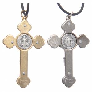 St. Benedict necklace with gothic cross 6x3 s4