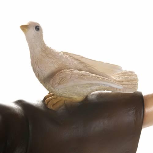 St François avec colombe fibre de verre 100 cm s11