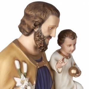 St Joseph avec enfant statue fibre de verre 160 cm s9