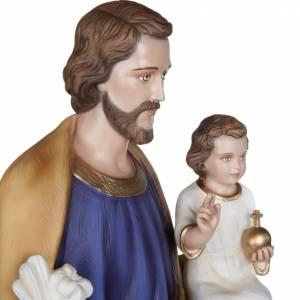 St Joseph avec l'enfant-Jésus 100 cm fibre de verre s8