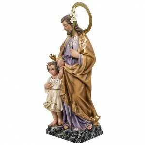 St Joseph et enfant 60 cm pâte à bois classique s11