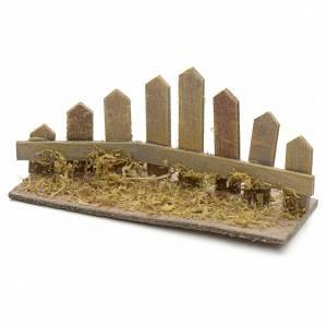 Ponte presepe, ruscelli, staccionate: Staccionata ad angolo in legno presepe