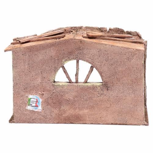 Stalla con finestra ad arco 18x29x15 cm s4
