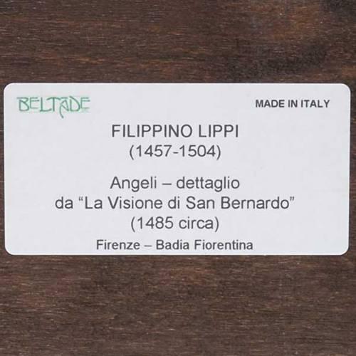 Stampa Angeli su legno con cornice s3