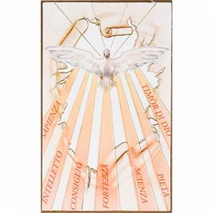 Stampa legno Spirito Santo con raggi s1