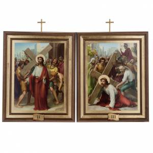 Way of the Cross: Stations of the Cross printed on wood, 15 stations