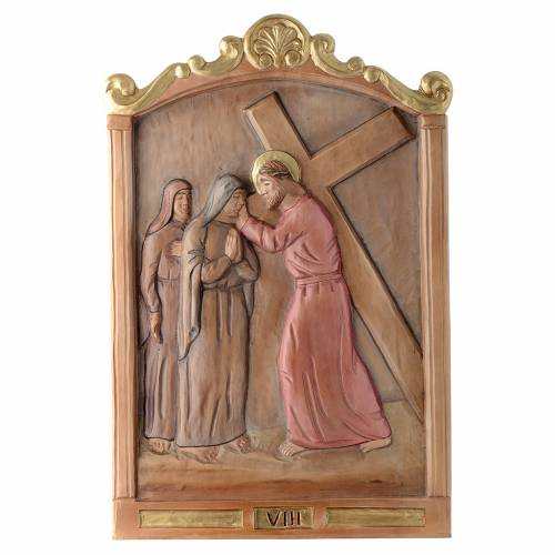 Stations of the Cross wooden relief, painted s8