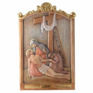 Stations of the Cross wooden relief, painted s13