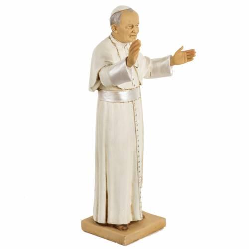Statua Giovanni Paolo II 50 cm resina Fontanini s2