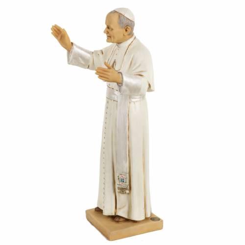 Statua Giovanni Paolo II 50 cm resina Fontanini s3