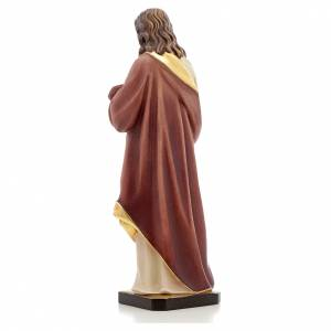 Statua legno Sacro Cuore di Gesù dipinta Val Gardena s3
