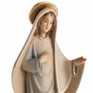 Statue in legno dipinto: Statua Madonna di Medjugorje legno dipinto mod. Linea