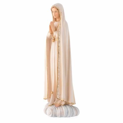 Statua Madonna Fatima legno Valgardena colorato s2