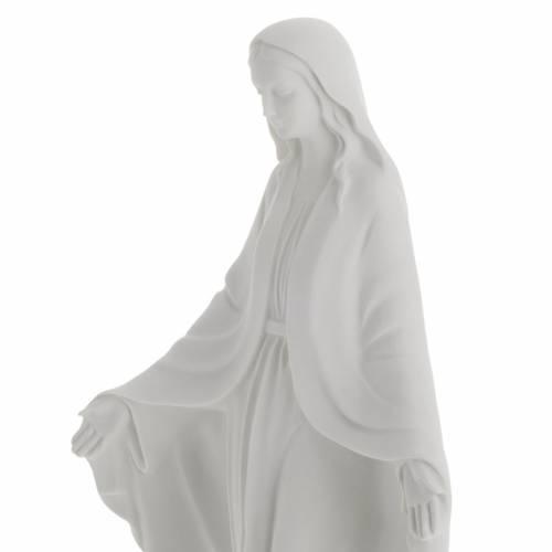 Statua Madonna Immacolata marmo sintetico bianco 40 cm s4