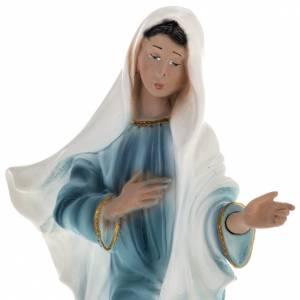 Statua Madonna Medjugorje gesso 25 cm s2