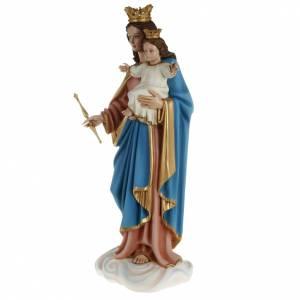 Statua Maria Regina con bambino 80 cm fiberglass s9
