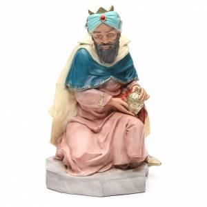 Statua Melchiorre Re Magio per presepe 65 cm s1
