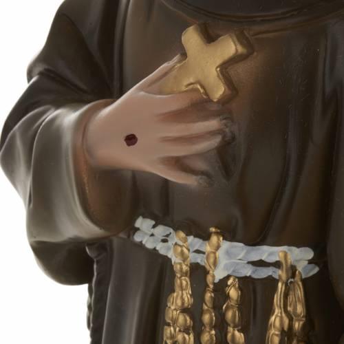 Statua San Francesco d'Assisi 40 cm gesso s3