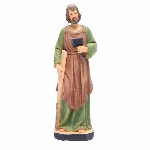 Statua San Giuseppe 30 cm resina colorata s1