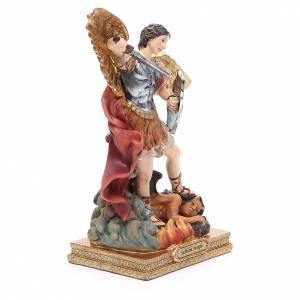 Statua San Michele 22 cm resina colorata s4