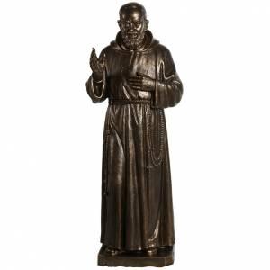Statue in Vetroresina: Statua San Pio vetroresina patinata bronzo 175 cm
