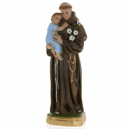 Statua Sant'Antonio da Padova 40 cm gesso s1