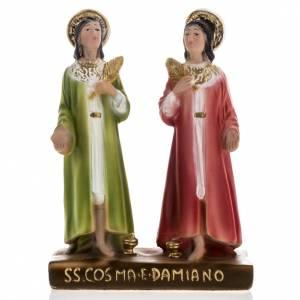 Statua SS. Cosma e Damiano gesso 20 cm s1