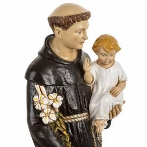 Statuen aus Harz und PVC: Statue Antonius von Padua aus Harz 50cm, Fontanini