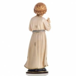 Statue bois Jésus adolescent peinte s4