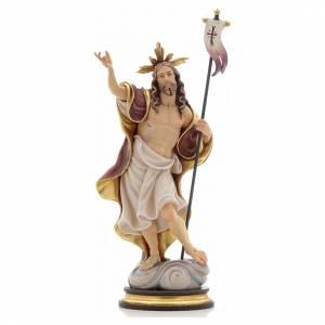 Statue bois Résurrection peinte s1