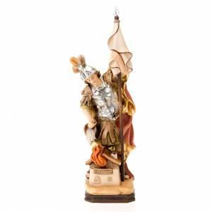 Statuen aus gemalten Holz: Statue Heilig Floriano aus Lorch Holz