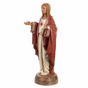 Statuen aus Harz und PVC: Statue Heiligstes Herz Jesu 40cm, Fontanini