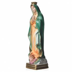 Heiligenfiguren aus Gips: Statue Madonna von Guadalupe perlmutterfarbener Gips 30 cm