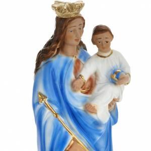 Statue Marie Auxiliatrice plâtre 30 cm s2