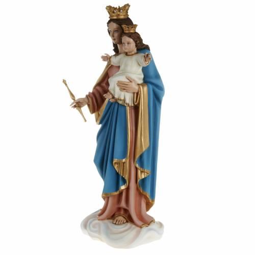 Statue Marie reine avec enfant 80 cm fibre de verre s9