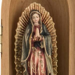 Statue Notre Dame de Guadalupe dans niche bois peint s3