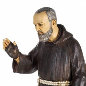 Statuen aus Harz und PVC: Statue Pio von Pietralcina aus Harz 100cm, Fontanini